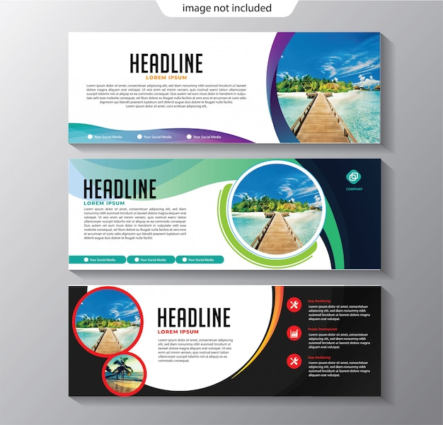 Banner template abstract
