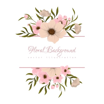 Banner template. beautiful flowers. greeting card. frame.