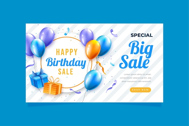Banner template for birthday celebration