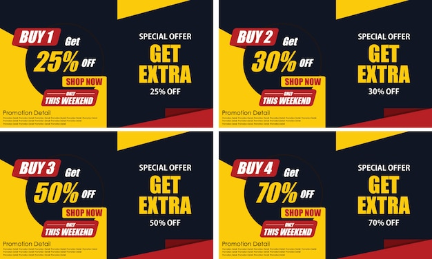 Banner template design buy and free get extra more