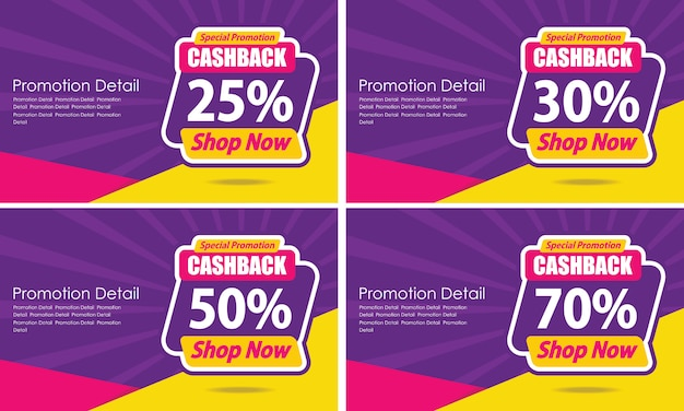 Banner template design guaranteed cashback