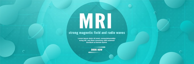 Banner template design for mri cover page.