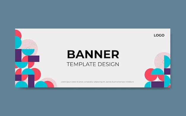 Дизайн шаблона баннера или шаблон обложки facebook