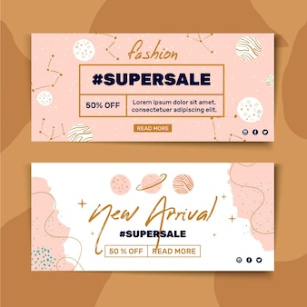 Banner template for fashion sale