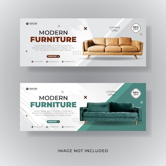 Баннер шаблон для продажи мебели