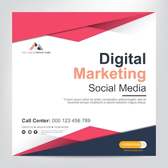 Шаблон баннера для публикации в социальных сетях