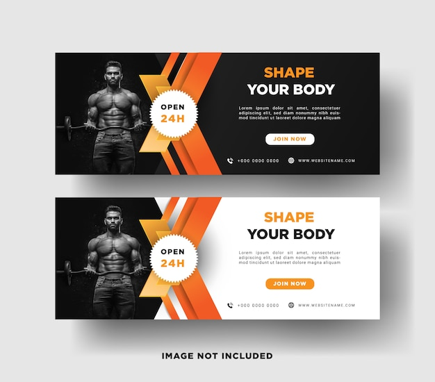 Banner template gym promotion