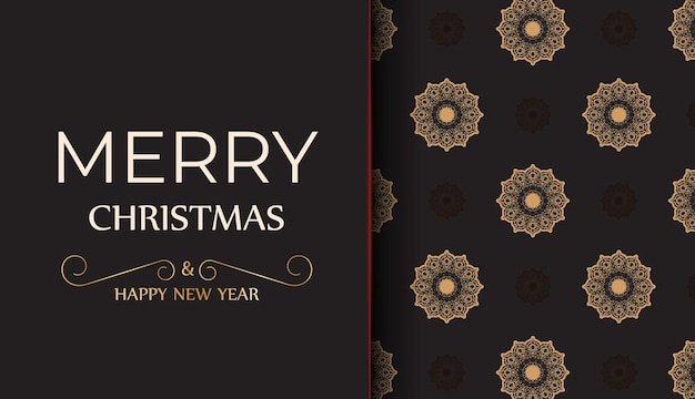 Banner template happy new year and merry christmas white color with winter ornament.