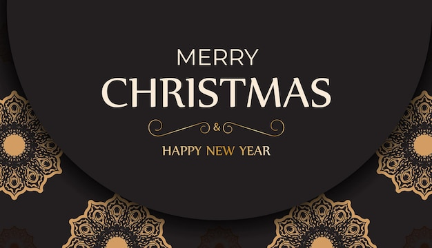 Banner template happy new year and merry christmas white color with winter pattern.