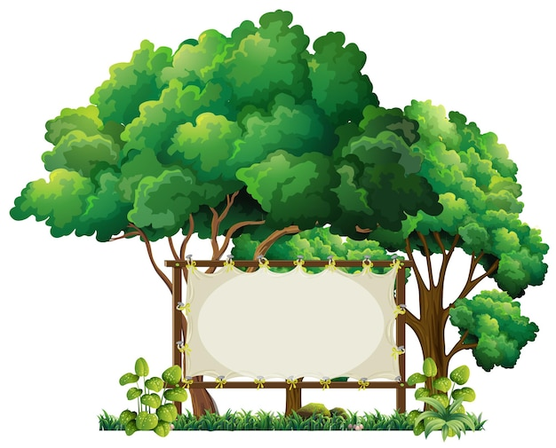 Banner template in the park