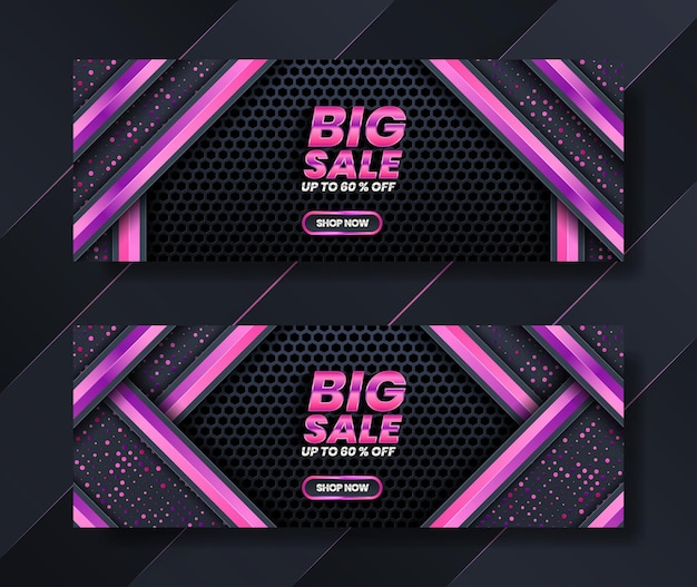 Banner template shop pink style for sales advertising. gold glitter background light with luxury style premium.