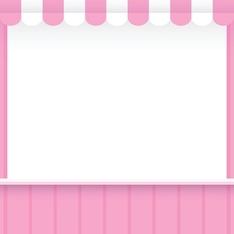 Banner template shop pink style for sales advertising