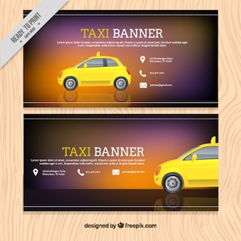 Banner template for taxi service