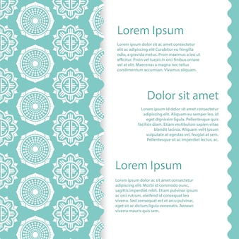 Banner template  with abstract asian floral elements
