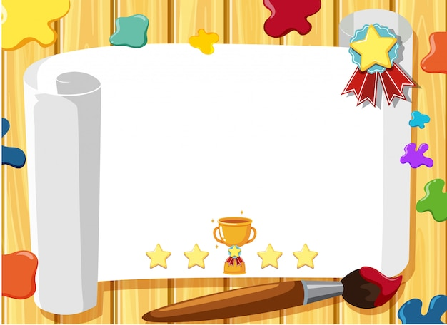 Banner template with art theme