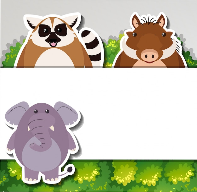 Шаблон баннера с милыми животными