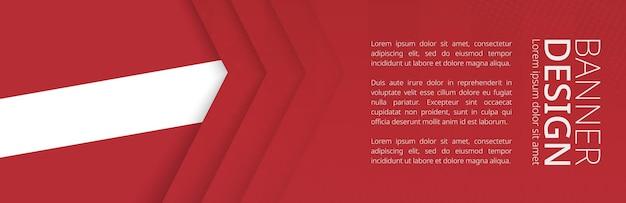 Шаблон баннера с флагом латвии для рекламы путешествий, бизнеса и других. горизонтальный дизайн веб-баннера.