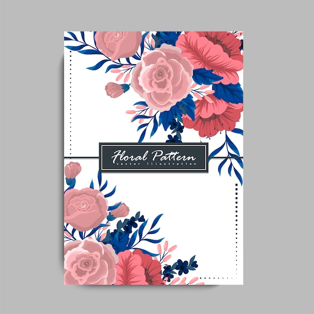 Banner template with floral background