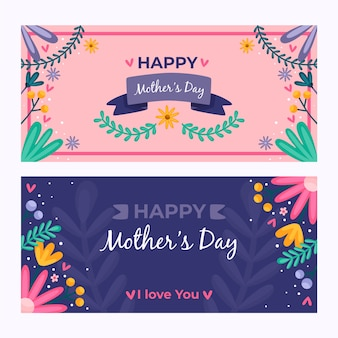 Banner template with mothers day design