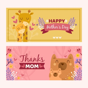 Banner template with mothers day theme