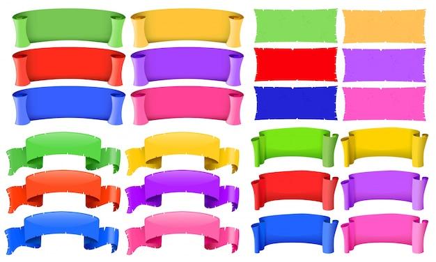 Баннерные шаблоны разных цветов