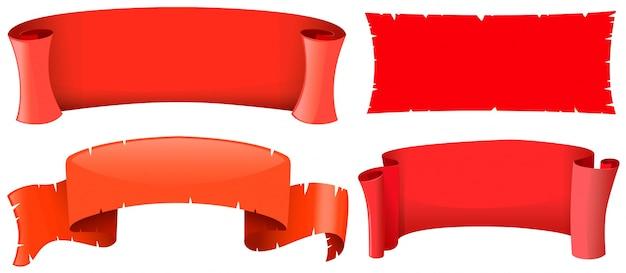 4 가지 디자인의 배너 템플릿