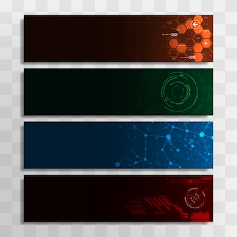 Banner templates set for web design or topics.