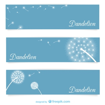 Banner templates with dandelions