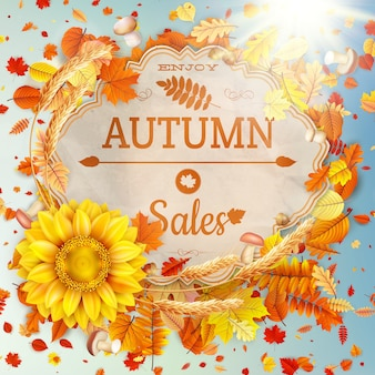 Banner on a theme of autumn. sale