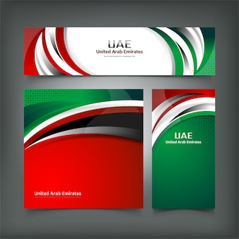 Banner of united arab emirates flag concept