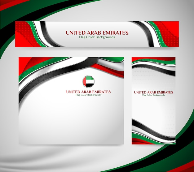 Banner of united arab emirates