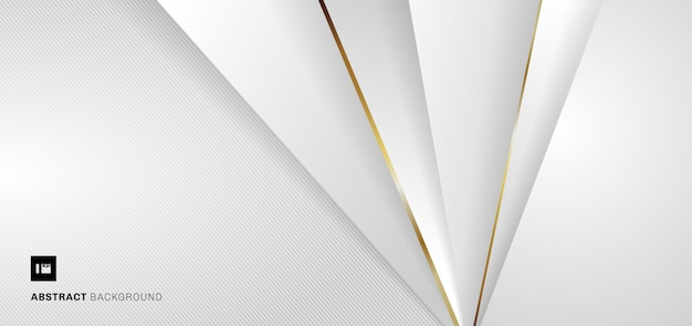 バナーwebテンプレート白と灰色の幾何学的なメタリックな背景。