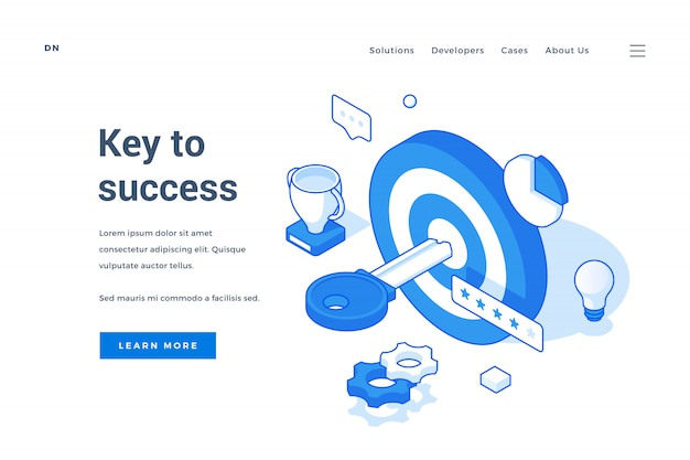 Banner for website advertising key to success