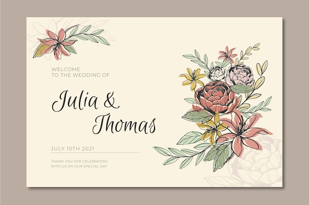 Free Wedding Banner Images Freepik