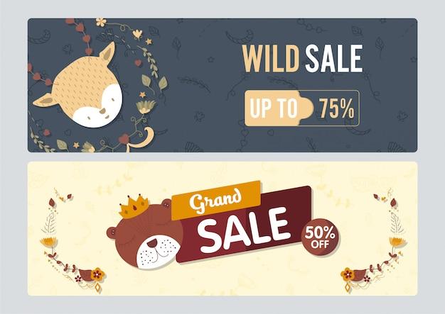 Banner wild sale cute