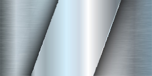 Баннер с рисунком из матового металла