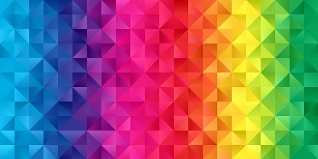 虹色の低ポリデザインのバナー