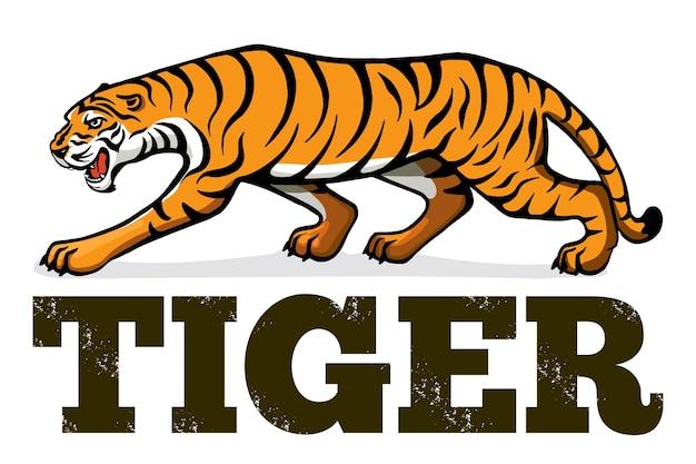 Знамя с тигром. день защиты тигров. новый 2022 год по китайскому календарю. векторная иллюстрация