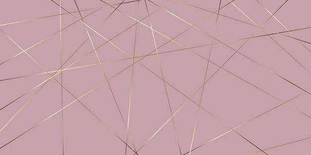 エレガントなゴールドとピンクの低ポリデザインのバナー
