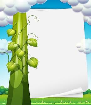Banner with beanstalk