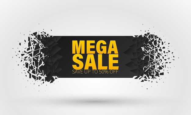 Banner with big sale special offer