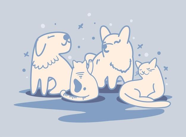 Баннер с кошками и собаками