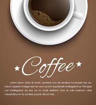 コーヒーカップとバナー