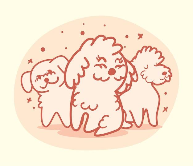 Баннер с милыми собаками