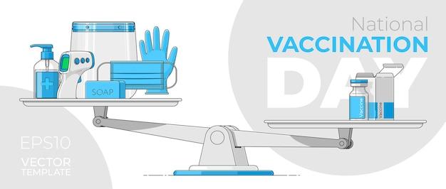 비문이있는 배너 national vaccination day