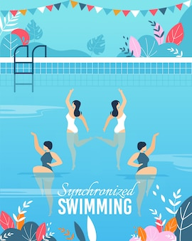 Banner with join synchronized swimming performance