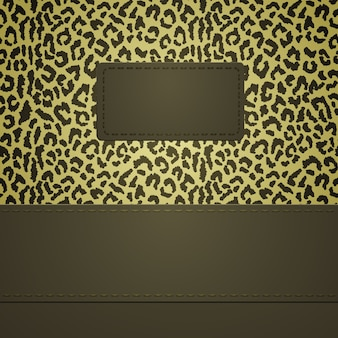 Banner with leopard spots. the background can be used as seamless pattern.