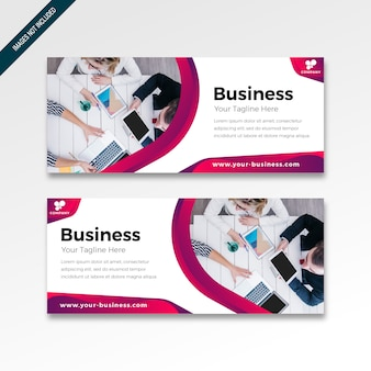 Banner with modern design colorful gradient