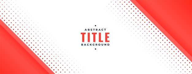 Banner with red diagonal shape and halftone