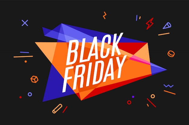 Banner with text black friday